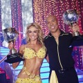 "Kym Johnson and Hines Ward with their Season 12 mirrorball trophies on ""Dancing with the Stars,"" May 24, 2011"