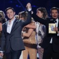 "Scotty McCreery learns that he is the Season 10 winner on ""American Idol's"" Grand Finale at the Nokia Theatre, Los Angeles, May 25, 2011"