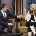"Piers Morgan chats with Lauren Alaina on the ""Tonight Show with Jay Leno"" on May 26, 2011"