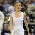 LeAnn Rimes performs prior to the National Championship Game of the 2011 NCAA Division I Men's Basketball Tournament at Reliant Stadium in Houston, Texas, April 4, 2011