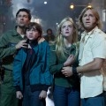 Kyle Chandler, Joel Courtney, Elle Fanning and Ron Eldard in Paramount Pictures&#8217; &#8220;Super 8&#8221;