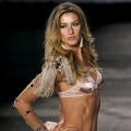Gisele Bundchen walks the runway to show her collection of lingerie brand in partnership with Hope in Sao Paulo, Brazil on May 12, 2011