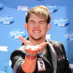 "James Durbin arrives at the ""American Idol"" Season 10 Grand Finale at the Nokia Theatre, Los Angeles, May 25, 2011"
