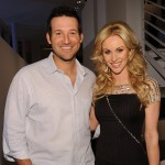 Tony Romo and Candice Crawford attend a private dinner hosted by Audi during Super Bowl XLV Weekend at the Audi Forum Dallas on February 5, 2011