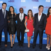 Steve Jones, Nicole Scherzinger, L.A Reid, Paula Abdul, Simon Cowell and Cheryl Cole attend the 2011 Fox Upfront at Wollman Rink - Central Park, New York City, on May 16, 2011
