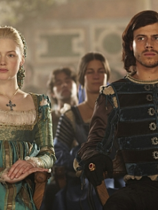 "Holliday Grainger as Lucrezia Borgia and Francois Arnaud as Cesare Borgia in ""The Borgias"""