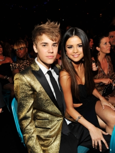 Justin Bieber and Selena Gomez spotted during the 2011 Billboard Music Awards at the MGM Grand Garden Arena in Las Vegas on May 22, 2011