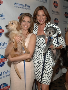 Natalie Morales and LuAnn de Lesseps attend the 11th annual Paws for Style fashion show benefiting the Humane Society of New York at Ink 48 Hotel, New York City, on May 23, 2011