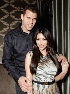 "Kris Humphries and Kim Kardashian attend Kevin Hart's ""Laugh At My Pain"" Official After Party at Club Nokia in Los Angeles on February 18, 2011"