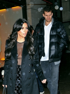Kim Kardashian and Kris Humphries are spotted leaving Barneys in New York City on January 18, 2011 Kim Kardashian and Kris Humphries are spotted leaving Barneys in New York City on January 18, 2011