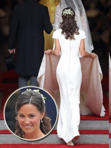 Pippa Middleton at the Royal Wedding of William and Kate