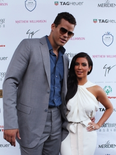 Kris Humphries and Kim Kardashian attend the Amber Fashion Show held at the Meridien Beach Plaza in Monte Carlo, Monaco, on May 27, 2011