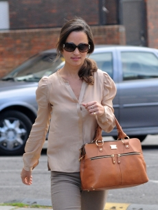 Pippa Middleton is spotted walking in London on June 1, 2011