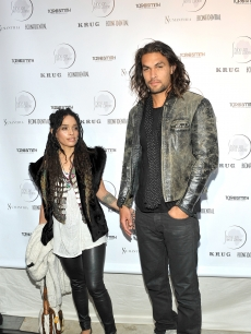 Lisa Bonet and Jason Momoa attend the 5th annual fundraiser for Shine on Sierra Leone at a private residence, Venice, Calif., on May 25, 2011