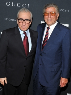 "Director Martin Scorsese and  Tony Bennett attend the Cinema Society, Gucci & the Film Foundation screening of ""La Dolce Vita"" at the Tribeca Grand Hotel, New York City, on June 1, 2011"