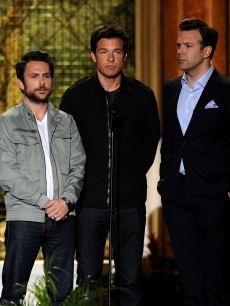 Charlie Day, Jason Bateman and Jason Sudeikis present an award onstage at Spike TV's 5th annual 'Guys Choice' Awards at Sony Pictures Studios in Culver City, Calif., on June 4, 2011