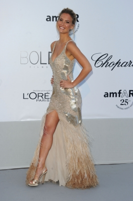 Bar Refaeli attends amfAR's Cinema Against AIDS Gala during the 64th Annual Cannes Film Festival at Hotel Du Cap, Antibes, France, on May 19, 2011