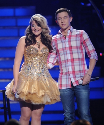 "Lauren Alaina and Scotty McCreery compete on ""American Idol,"" May 24, 2011"