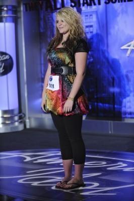 "Lauren Alaina, 15, from Rosville, Georgia, performs in front of the judges during Season 10 of ""American Idol"""