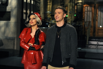 Justin Timberlake and Lady Gaga rehearse for &#8220;Saturday Night Live,&#8221; May 19, 2011