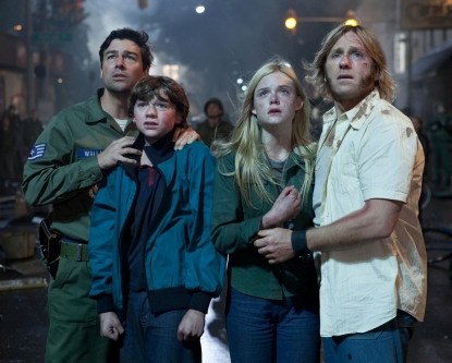"Kyle Chandler, Joel Courtney, Elle Fanning and Ron Eldard in Paramount Pictures' ""Super 8"""