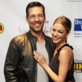 LeAnn Rimes and Eddie Cibrian pose after an acoustic presentation to assist victims of the recent tornadoes in Alabama at the Ponte Vedra Concert Hall in  Ponte Vedra Beach, Florida on June 5, 2011