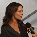 Jennifer Love Hewitt chats with Access Hollywood backstage at the BCBG MAX AZRIA Fall 2011 fashion show during Mercedes-Benz Fashion Week in New York City on February 10, 2011