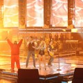 "Cee Lo Green, Blake Shelton, Christina Aguilera and Adam Levine perform a Queen medley on ""The Voice,"" June 7, 2011"