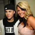 Justin Bieber and &#8220;Idol&#8217;s&#8221; Lauren Alaina pose backstage at the 2011 CMT Music Awards at the Bridgestone Arena, Nashville, on June 8, 2011