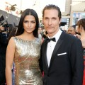 Camila Alves and Matthew McConaughey step out at the 39th AFI Life Achievement Award Honoring Morgan Freeman held at Sony Pictures Studios in Culver City, Calif. on June 9, 2011