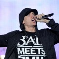 Eminem performs on stage during Bonnaroo 2011 at What Stage in Manchester, Tenn., on June 11, 2011