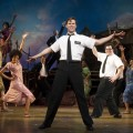 "The cast of ""The Book of Mormon"" during the curtain call on the opening night of 'The Book of Mormon' on Broadway at Eugene O'Neill Theatre in New York City on March 24, 2011"