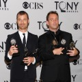 "Winners of Best Musical for ""The Book of Mormon"" Matt Stone and Trey Parker attend the press room during the 65th Annual Tony Awards at the The Jewish Community Center in Manhattan in New York City on June 12, 2011"