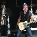 Clarence Clemons and Bruce Springsteen perform live with the E Street Band on day one of the 40th Pinkpop Festival at Megaland in Landgraaf, Netherlands on May 30, 2009