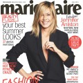Jennifer Aniston on the cover of Marie Claire's July 2011 issue