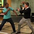 Sugar Ray Leonard and Billy Bush get ready to rumble on the set of Access Hollywood Live on June 16, 2011