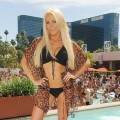 Crystal Harris attends at Wet Republic in Las Vegas on what would have been her wedding day on June 18, 2011