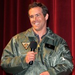 "Ryan Reynolds makes appearance at a special screening of ""Green Lantern"" for the troops at Marine Corps Air Station Miramar, San Diego, on June 16, 2011"