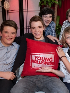 """Super 8"" stars Riley Griffiths, Gabriel Basso, Zach Mills, Joel Courtney and Ryan Lee visit YoungHollywood.com at the Young Hollywood Studio in Los Angeles on May 22, 2011"