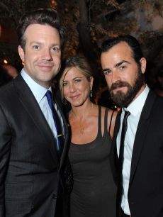 Jason Sudeikis, Jennifer Aniston and Justin Theroux attend the Movie Awards After Party Sponsored By Yoostar at Soho House in West Hollywood, Calif. on June 5, 2011 
