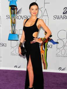 Miranda Kerr attends the 2011 CFDA Fashion Awards at Alice Tully Hall, Lincoln Center, New York City, on June 6, 2011