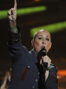 "Beverly McClellan performs on NBC's ""The Voice,"" June 7, 2011"