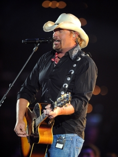 Toby Keith performs on stage at the 2011 CMT Music Awards at the Bridgestone Arena, Nashville, on June 8, 2011