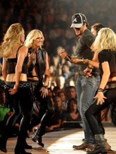 Luke Bryan performs on stage at the 2011 CMT Music Awards at the Bridgestone Arena, Nashville, on June 8, 2011