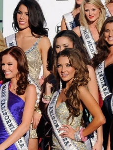 The 2011 Miss USA contestants as they arrive at the Planet Hollywood Resort &amp; Casino in Las Vegas, Nev. on June 6, 2011 