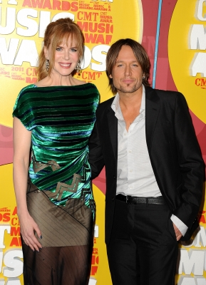 Nicole Kidman and musician Keith Urban attend the 2011 CMT Music Awards at the Bridgestone Arena, Nashville, on June 8, 2011