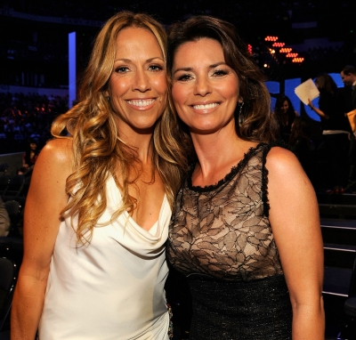 Sheryl Crow and Shania Twain attend the 2011 CMT Music Awards at the Bridgestone Arena on June 8, 2011 in Nashville, Tenn.