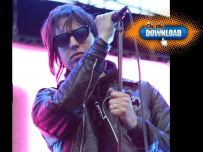 The Strokes&#8217; super cool lead singer Julian Casablancas mugs for the camera at KROQ&#8217;s Weenie Roast in Irvine, Calif. on June 4, 2011