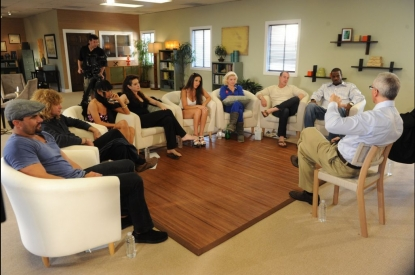 "Dr. Drew Pinsky and the cast of ""Celebrity Rehab"" season five"