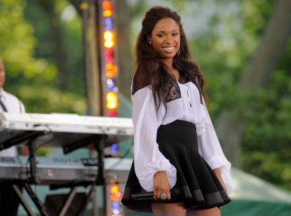 "Jennifer Hudson performs on ABC's ""Good Morning America"" at Rumsey Playfield, in Central Park in New York City on June 10, 2011"